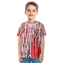 Red, black and white pattern Kid s Sport Mesh Tee