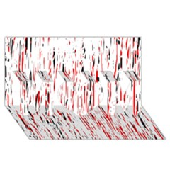 Red, black and white pattern MOM 3D Greeting Card (8x4)