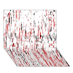 Red, black and white pattern HOPE 3D Greeting Card (7x5)