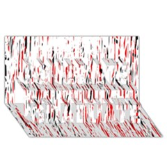 Red, black and white pattern Congrats Graduate 3D Greeting Card (8x4)