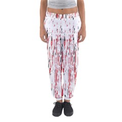 Red, black and white pattern Women s Jogger Sweatpants