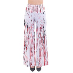Red, black and white pattern Pants