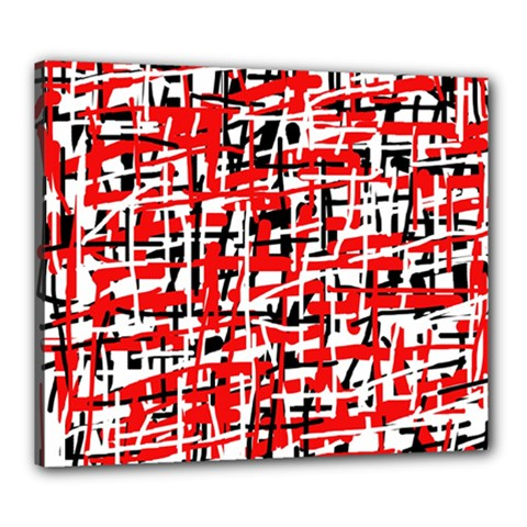 Red, white and black pattern Canvas 24  x 20