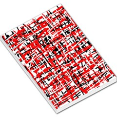 Red, white and black pattern Large Memo Pads