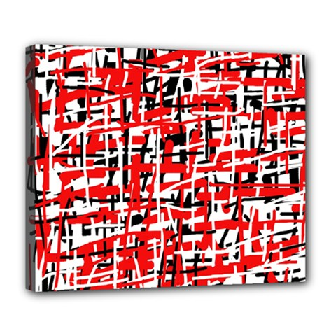 Red, white and black pattern Deluxe Canvas 24  x 20