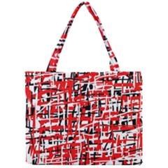 Red, white and black pattern Mini Tote Bag