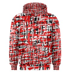 Red, white and black pattern Men s Pullover Hoodie