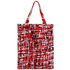 Red, white and black pattern Zipper Classic Tote Bag