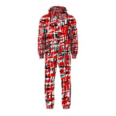 Red, white and black pattern Hooded Jumpsuit (Kids)