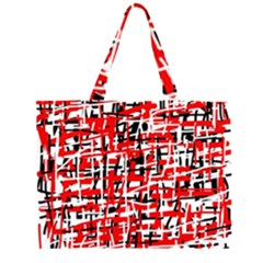 Red, white and black pattern Large Tote Bag