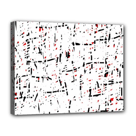 red, white and black pattern Canvas 14  x 11