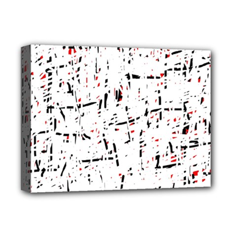 red, white and black pattern Deluxe Canvas 16  x 12