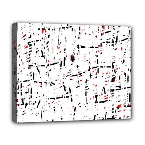 red, white and black pattern Deluxe Canvas 20  x 16