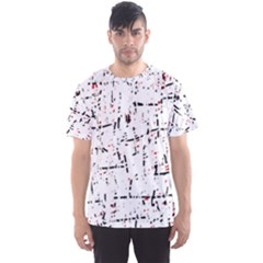 red, white and black pattern Men s Sport Mesh Tee
