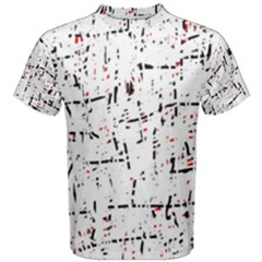 red, white and black pattern Men s Cotton Tee
