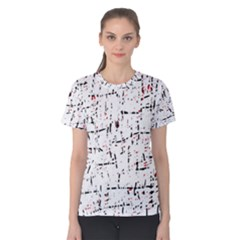 red, white and black pattern Women s Cotton Tee