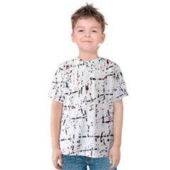 red, white and black pattern Kid s Cotton Tee