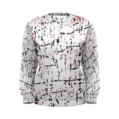 red, white and black pattern Women s Sweatshirt