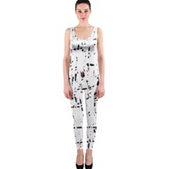 red, white and black pattern OnePiece Catsuit