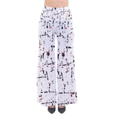 Red, White And Black Pattern Pants
