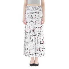 Red, White And Black Pattern Maxi Skirts