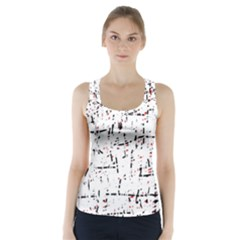 red, white and black pattern Racer Back Sports Top