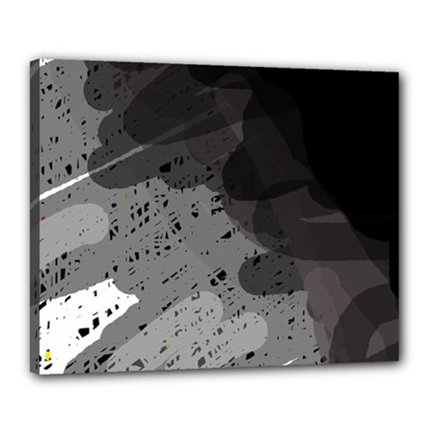 Black and gray pattern Canvas 20  x 16