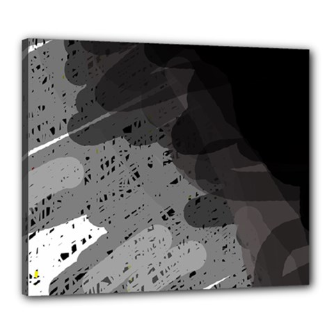 Black and gray pattern Canvas 24  x 20