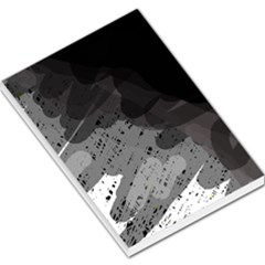 Black and gray pattern Large Memo Pads