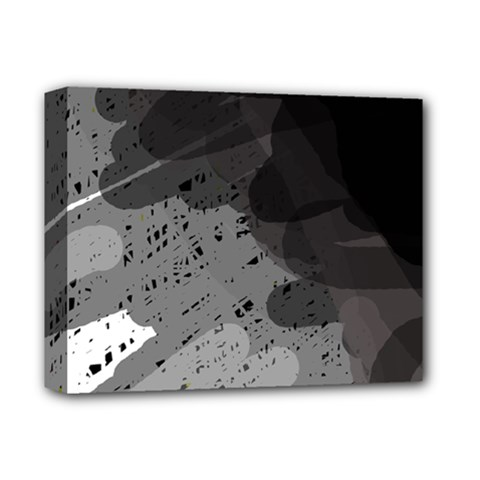 Black and gray pattern Deluxe Canvas 14  x 11