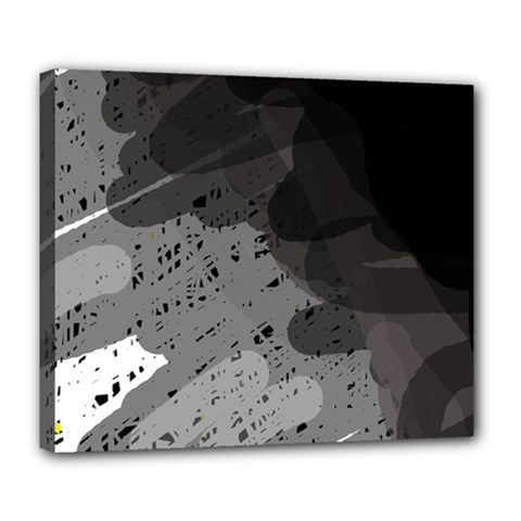 Black and gray pattern Deluxe Canvas 24  x 20