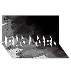 Black and gray pattern ENGAGED 3D Greeting Card (8x4)