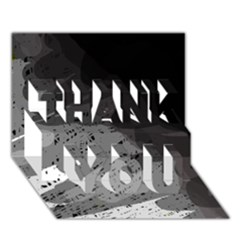 Black and gray pattern THANK YOU 3D Greeting Card (7x5)