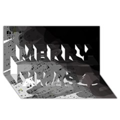 Black and gray pattern Merry Xmas 3D Greeting Card (8x4)