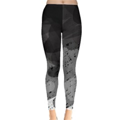 Black and gray pattern Leggings