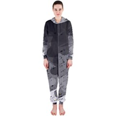Black and gray pattern Hooded Jumpsuit (Ladies)