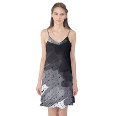 Black and gray pattern Camis Nightgown