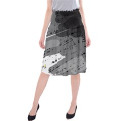 Black and gray pattern Midi Beach Skirt