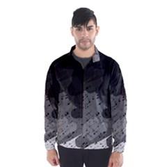 Black and gray pattern Wind Breaker (Men)