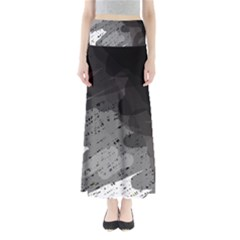 Black and gray pattern Maxi Skirts