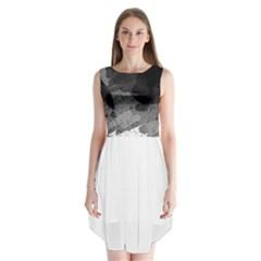 Black and gray pattern Sleeveless Chiffon Dress