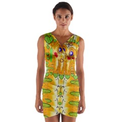 Mister Jellyfish The Octopus With Friend Wrap Front Bodycon Dress