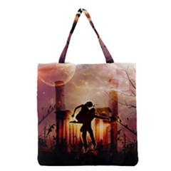 Dancing In The Night With Moon Nd Stars Grocery Tote Bag
