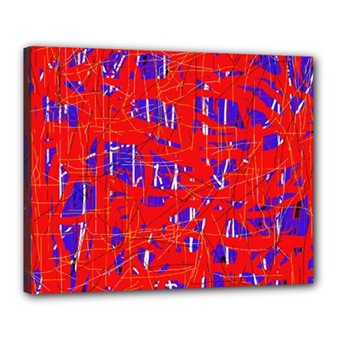 Blue and red pattern Canvas 20  x 16
