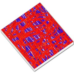 Blue and red pattern Small Memo Pads