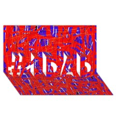 Blue And Red Pattern #1 Dad 3d Greeting Card (8x4)