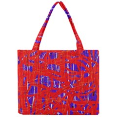 Blue and red pattern Mini Tote Bag
