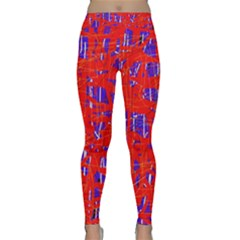 Blue and red pattern Yoga Leggings