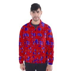 Blue and red pattern Wind Breaker (Men)