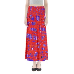 Blue and red pattern Maxi Skirts